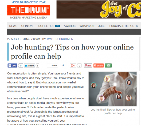 Job Hunting? Tips On How Your Online Profile Can Help